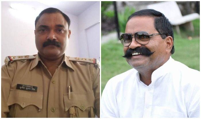 एसओ सुनीत सिंह और इनामी बदमाश लेखराज सिंह का ऑडियो वायरल हुआ था. (दोनों की फाइल फोटो)