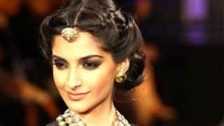Sonam Kapoor Goes Desi; Stuns in a Traditional Kanjivaram Silk Saree (View Pictures)