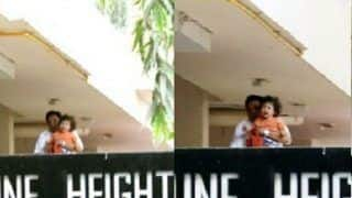 Taimur Ali Khan SPOTTED Crying At The Balcony And We Wonder Why?