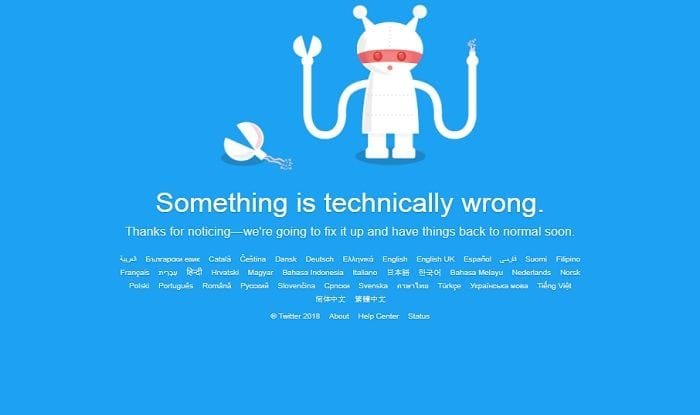 Twitter is experiencing a world-wide outage