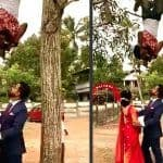 Wedding Photographer Clicks a Perfect Shot after Hanging Himself Upside Down From a Tree, Watch the Funny Video