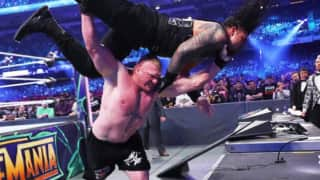 WWE Wrestlemania: Brock Lesnar Defeats Roman Reigns, Leaves him Battered and Bloody after Retaining the Universal Title