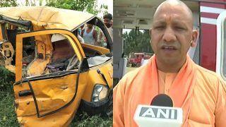 Kushinagar Train-School Van Collision: UP CM Yogi Adityanath Visits Site, Says Prima Facie Appears to be Mistake of Van Driver Who Had Earphones on