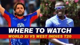 World XI vs West Indies T20 Live Cricket Streaming, WXI vs WI Live Match Streaming Online: When And Where to Watch The One-Off T20