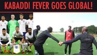 PKL 2018: Kabaddi Fever Grips England Football Team, WATCH to Believe!