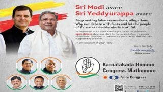 Karnataka Assembly Elections 2018: Siddaramaiah Dares Narendra Modi, BS Yeddyurappa For Debate in Advertisement