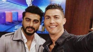 Arjun Kapoor Has A Fan Boy Moment On Meeting The Legendary Football Player, Christiano Ronaldo - View Pic