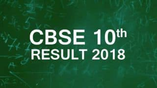 CBSE Class 10th Result 2018 Declared at cbse.nic.in