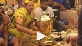 IPL2018: फाइनल जीत के बाद CSK के खिलाड़ियों ने जमकर की पार्टी, वीडियो हुआ वायरल