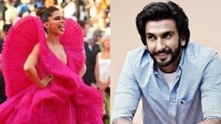 Deepika Padukone's Pink Gown From Cannes 2018 RedCarpet Gets A Cute Reaction From RanveerSingh