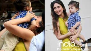 Taimur Ali Khan Drops In To Meet Mommy Kareena Kapoor Khan During The Promotions Of Veere Di Wedding - See Pics