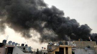 Massive Fire Engulfs Rubber Godown in Delhi's Malviya Nagar, 30 Fire Engines at Spot; No Casualties so Far