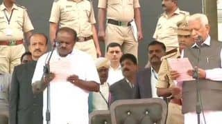 H D Kumaraswamy Takes Oath as Karnataka Chief Minister, G Parameshwara Becomes His Deputy