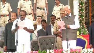 HD Kumaraswamy Oath-Taking Ceremony Live News Updates: JD(S) Leader Sworn-in as karnataka Chief Minister