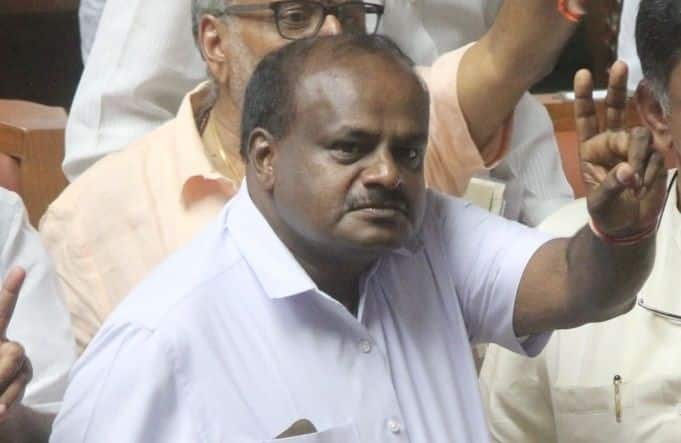 Show of opposition might at Kumaraswamy's oath-taking ceremony