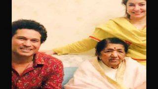लता मंगेशकर ने सचिन तेंदुलकर के साथ देखा फाइनल मैच, शेयर की तस्वीर