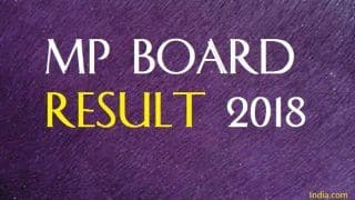 MP Board Result 2018 10th Class Declared! Check Your Marks at mpbse.nic.in