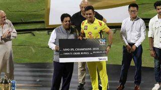 IPL2018: फाइनल जीतने के बाद CSK के खिलाड़ियों को मिले करोड़ों रुपये, जानें किसे कितनी मिली ईनामी राशि