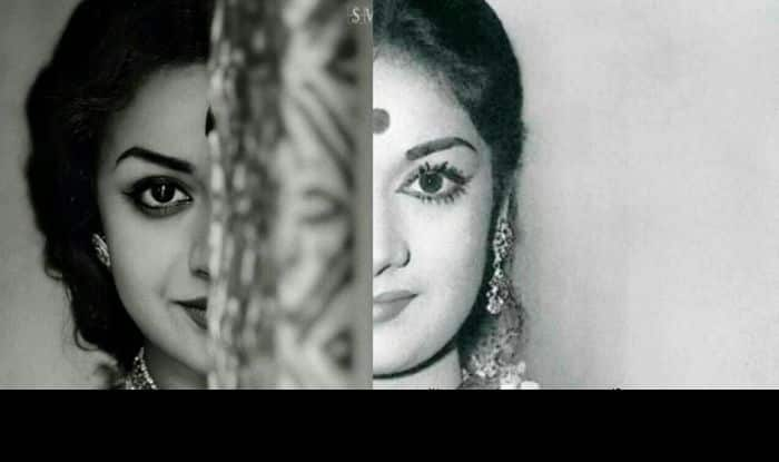Mahanati Poster Keerthi Suresh Dulquer Salmaan Recreate: Mahanati Movie Review: Keerthy Suresh Delivers A