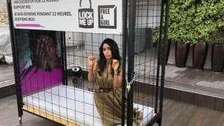 Cannes 2018: Mallika Sherawat Locks Herself Up In A Cage As Part Of The Lock-Me-Up Campaign Against Child Prostitution And Trafficking