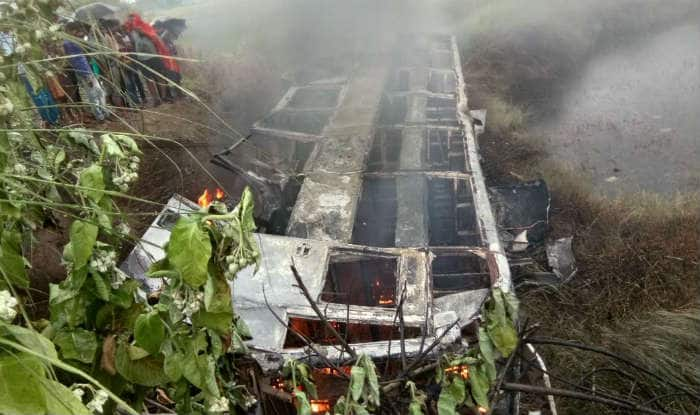 27 dead as fire breaks out in bus in Bihar's Motihari