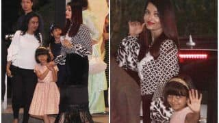 Aishwarya Rai Bachchan And Daughter Aaradhya Snapped Post Dinner In A Plush Restaurant - See Pics