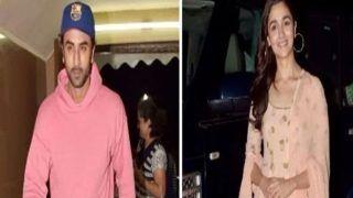 Pics: अफेयर की खबरों के बीच 'राजी' की स्क्रीनिंग में फिर एक बार साथ दिखे आलिया, रणबीर
