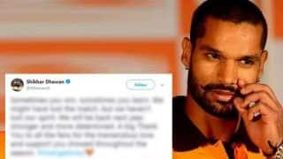 IPL 2018 Finals: Shikhar Dhawan's Latest Message Is Exactly What SRH Fans Needed After Loss To CSK