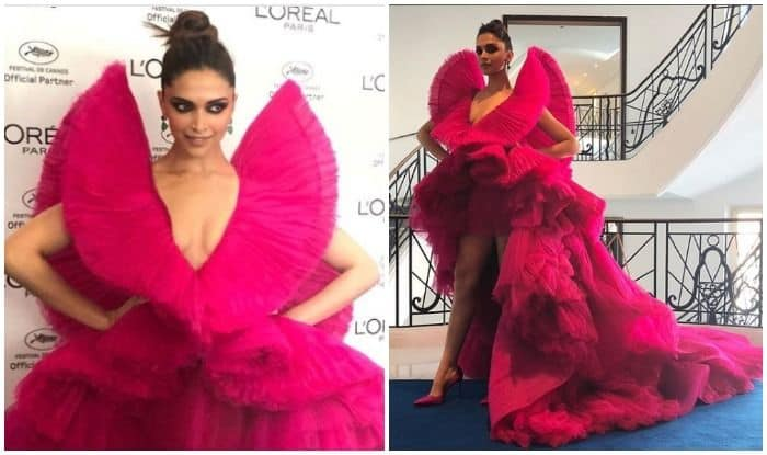 Cannes 2018  Deepika Padukone Looks Drop Dead Gorgeous In Pink Ashi Studio  Couture - See Pics 3a828bf7e59