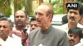 Karnataka Crisis: 'BJP Appoints CMs in Bars, Restaurants,' Alleges Ghulam Nabi Azad