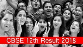 CBSE 12th Result 2018 Declared! Check CBSE Class 12 Score at cbse.nic.in, cbseresults.nic.in
