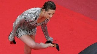 Cannes 2018: Kristen Stewart Rebels Against High Heel Red Carpet Dress Code While Going Barefoot