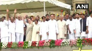 कुमारस्वामी ने ली CM पद की शपथ, जी परमेश्वर बने डिप्टी सीएम, साथ आए धुर विरोधी