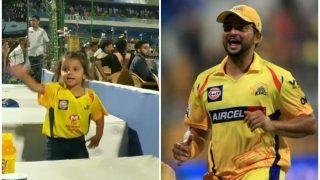 जयपुर में बीच मैदान सुरेश रैना की बिटिया का 'ब्रेकअप' डांस, देखें वीडियो