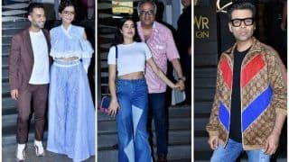 Sonam Kapoor-Anand Ahuja, Janhvi Kapoor, Karan Johar, Attend Veere Di Wedding's Screening - View Pics