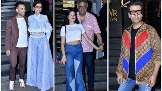 Sonam Kapoor-Anand Ahuja, Janhvi Kapoor, Karan Johar, Attend Veere Di Wedding's Screening - View Pics