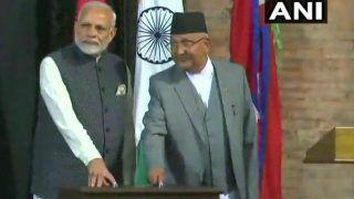 PM Modi, Nepal Prime Minister Oli Lay Foundation Stone of Hydropower Project Arun III