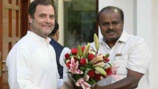 Birth Pangs in Congress-JDS Govt? Kumaraswamy Meets Rahul Gandhi to Discuss Issue of Full-Fledged Budget for Karnataka