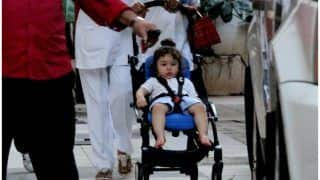 Taimur Ali Khan Spotted Outside His Grandparents Randhir And Babita Kapoor's Residence - See Pics