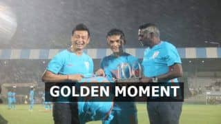 India v Kenya Intercontinental Cup 2018: Picture of Sunil Chhetri-Baichung Bhutia Exchange Jerseys in Former's 100th International Match Is Going Viral
