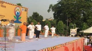 Rajnath Singh, Ram Naik, Yogi Adityanath Lead Yoga Day Celebrations in UP