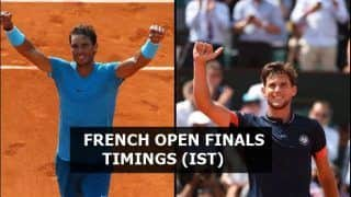 Rafael Nadal vs Dominic Thiem French Open 2018 Men's Final Live Streaming: When And Where to Watch on TV (IST)