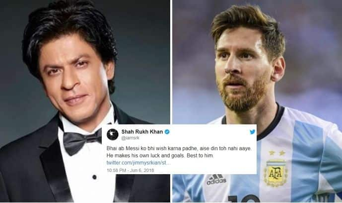 Shahrukh Khan is a fan of Lionel Messi