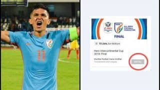 Intercontinental Cup 2018 Finals: Indian Captain Sunil Chhetri's Impact Works Again, All Tickets For Finals SOLD OUT