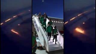 FIFA World Cup 2018: Saudi Arabia Team Plane Catches FIRE During Landing -- WATCH