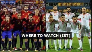 Spain vs Tunisia FIFA International Friendly Live Streaming: When And Where to Watch on TV (IST)