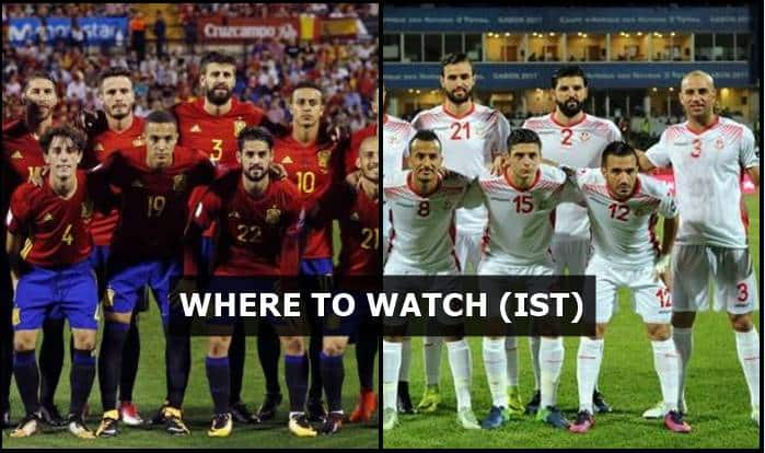 Image result for Spain vs Tunisia Live Streaming