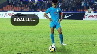 India v Kenya Intercontinental Cup 2018: Sunil Chhetri Scores Goal in His 100th International -- Watch