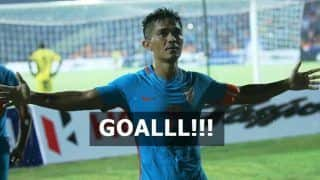 India vs New Zealand Intercontinental Cup 2018 Live Update: Watch Captain Sunil Chhetri Score a GOAL, Sends Twitter in Tizzy