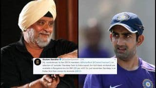Gautam Gambhir Slams DDCA, Bishan Singh Bedi And Chetan Chauhan For Objecting Navdeep Saini's Selection In Delhi Ranji Team